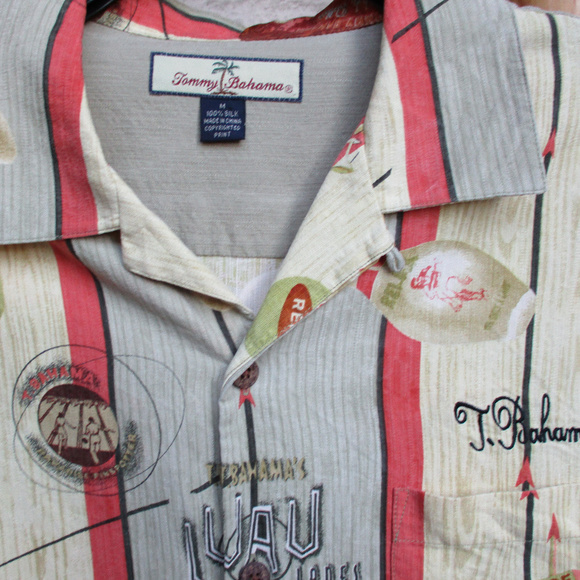 Tommy Bahama Other - TOMMY BAHAMA BOWLING SHIRT ~ M ~ EMBROIDERY ~ SILK